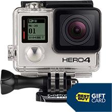 GoPro HERO4 Black 4K Action Camera & Free $20 Best Buy Gift Card