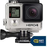 GoPro HERO4 Black 4K Action Camera & Free $50 Best Buy Gift Card