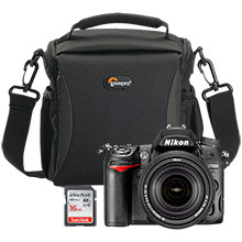 Nikon D7000 DSLR Camera with 18-140mm VR Lens, Free Lowepro Format 160 Camera Bag & SanDisk Ultra Plus 16GB Memory Card