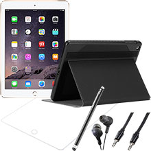 iPad Air 2 Wi-Fi 16GB (Gold), Screen Protector, Case, Stylus, Audio Cable & Earbuds Package