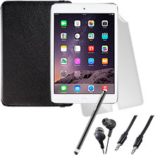 iPad mini 2 Wi-Fi 16GB (Silver), Screen Protector, Case, Stylus, Audio Cable & Earbuds Package
