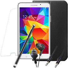 Samsung Galaxy Tab 4 7.0 (White), Screen Protector, Case, Stylus, Audio Cable & Earbuds Package