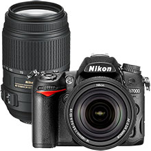 Nikon D7000 16.2MP DSLR Camera with 18-140mm Lens & Extra 55-300mm Lens