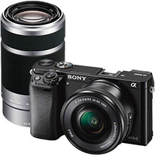 Sony Alpha a6000 Compact System Camera with 16-50mm Retractable Lens and 55-210mm f/4.5-6.3 E-Mount Telephoto Zoom Lens