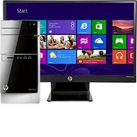 """HP Pavilion 500-424 Desktop & 25"""" IPS LED Monitor Package"""