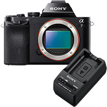 Sony Alpha a7 24.3MP Compact System Camera (Body Only) & Sony W Series Battery Charger