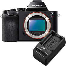 Sony Alpha a7R 36.4MP Compact System Camera (Body Only) & Sony W Series Battery Charger