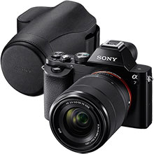 Sony Alpha a7 24.3MP Compact System Camera with 28-70mm Lens & Sony Jacket Camera Case