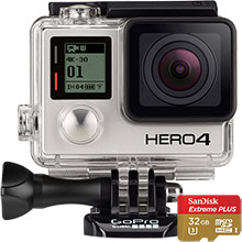 GoPro HERO4 Black 4K Action Camera & 32GB Memory Card