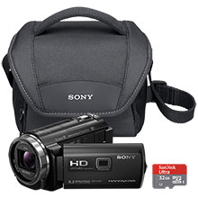 Sony HDR-PJ540 32GB Flash Memory Camcorder, 32GB Memory Card & Case
