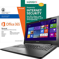 Lenovo G50-80E3016AUS Laptop, Internet Security Software & Microsoft Office Package