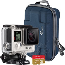 GoPro HERO4 Black 4K Action Camera, Lowepro Dashpoint AVC 1 Camera Case & 32GB Memory Card