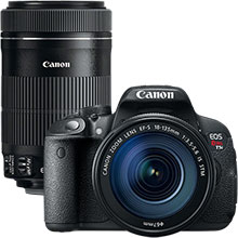 Canon EOS Rebel T5i 18.0MP DSLR Camera with 18-135mm Lens & Extra 75-300mm Lens