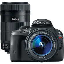 Canon EOS Rebel SL1 18.0MP DSLR Camera with 18-55mm Lens & Extra 55-250mm Lens