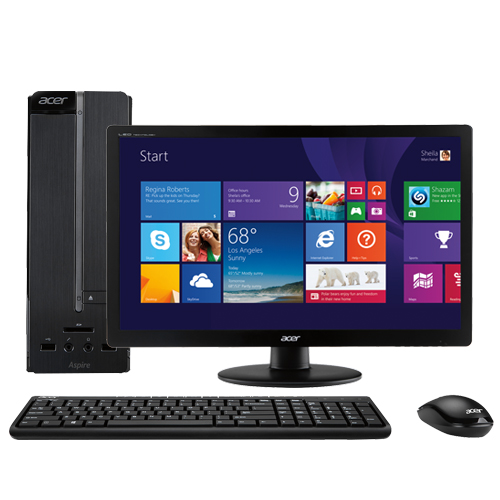 """Acer Aspire AXC-603-UB17 Desktop & 19.5"""" LED Monitor Package"""