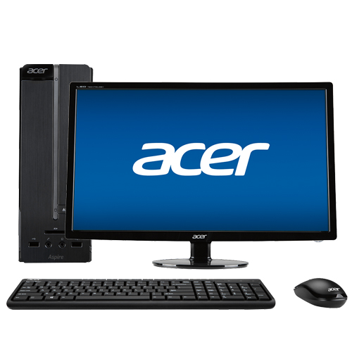 "Acer Aspire AXC-603-UB17 Desktop & 27"" LED Monitor Package"