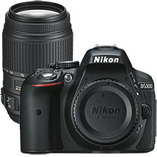 Nikon D5300 24.2MP DSLR Camera (Body Only) & Extra 55-300mm Lens