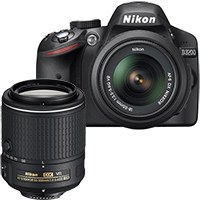 Nikon D3200 24.2MP DSLR Camera with 18-55mm Lens & Extra 55-200mm Lens