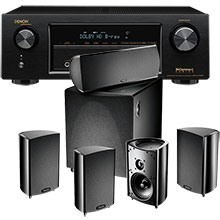 Definitive Technology ProCinema 600 5.1 Channel Speaker System and Denon A/V Home Theater Receiver Package