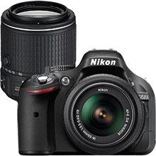 Nikon D5200 24.1MP DSLR Camera with 18-55mm Lens & Extra 55-200mm Lens