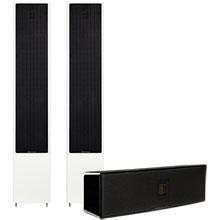 """MartinLogan High Gloss White Motion 40 6½"""" Floor Speakers (Two) & Motion 8 4"""" Center-Channel Speaker Package"""