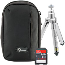 Accessory Package for Fujifilm XP70 Camera with Bag, Mini Tripod and Memory Card