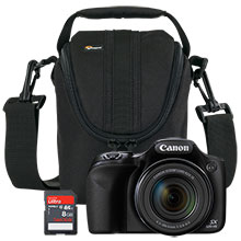 Canon PowerShot SX520 HS 16.0MP Digital Camera with Free Camera Bag and 8GB Memory Card