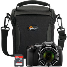 Nikon Coolpix P530 16.1MP Digital Camera with Free Camera Bag and 8GB Memory Card
