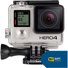 GoPro HERO4 Black 4K Action Camera and Free $30 Best Buy Gift Card