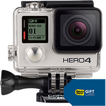 GoPro HERO4 Silver Action Camera and Free $20 Best Buy Gift Card