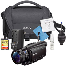 Sony Prosumer HDR-CX900 HD Camcorder and Free 32GB Memory Card, Cleaning Kit, Camera Bag and Travel Charger