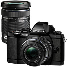 Olympus OM-D E-M10 Mirrorless Camera with 14-42mm Lens and Extra 40-150mm f/4.0-5.6 Telephoto Zoom Lens