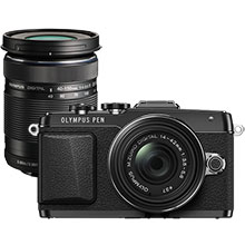 Olympus E-PL7 Mirrorless Camera with 14-42mm 2R Lens and Extra 40-150mm f/4.0-5.6 Telephoto Zoom Lens