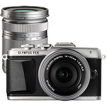Olympus E-PL7 Mirrorless Camera - Silver with 14-42mm 2R Lens and Extra 40-150mm f/4.0-5.6 Telephoto Zoom Lens