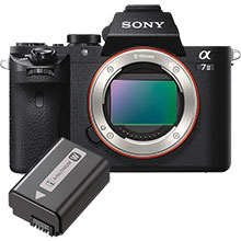 Sony a7 II Mirrorless Camera (Body Only) and Free Extra Battery