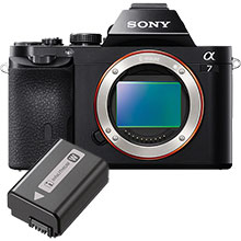 Sony Alpha a7 24.3MP Compact System Camera (Body Only) and Free Extra Battery