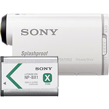 Sony AS100 HD Action Cam - White and Free Extra Battery