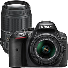 Nikon D5300 24.2MP DSLR Camera with 18-55mm Lens & Extra 55-300mm Lens