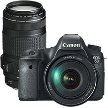 Canon EOS 6D 20.2MP DSLR Camera with 24–105mm Lens & Extra 70–300mm Telephoto Zoom Lens