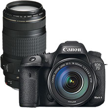 Canon EOS 7D Mark II DSLR Camera with 18–135mm Lens & Extra 70–300mm Telephoto Zoom Lens