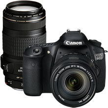 Canon EOS 60D DSLR Camera with 18–135mm Lens & Extra 70–300mm Telephoto Zoom Lens