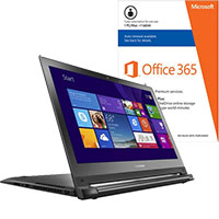 Lenovo Edge 15-80H1000MUS 2-in-1 Laptop & Microsoft Office Package