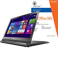 Lenovo Edge 15-80H1000LUS 2-in-1 Laptop & Microsoft Office Package