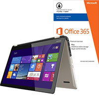 Toshiba Satellite Radius P55W-B5220 2-in-1 Laptop & Microsoft Office Package