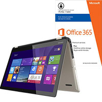 Toshiba Satellite Radius P55W-B5112 2-in-1 Laptop & Microsoft Office Package