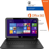 HP 15-f162dx Laptop & Microsoft Office Package