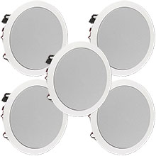 "Five SpeakerCraft 8"" 150W In-Ceiling Speakers"