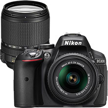 Nikon D5300 24.2MP DSLR Camera with 18–55mm Lens & Extra 18–140mm Lens