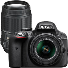 Nikon D3300 DSLR Camera with 18–55mm Lens and Extra 55–300mm Telephoto Zoom Lens