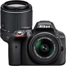 Nikon D3300 DSLR Camera with 18–55mm Lens and Extra 55–200mm Telephoto Zoom Lens